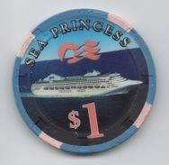 Jeton De Casino Sur Mer : Princess Cruises : Sea Princess $1 - Casino