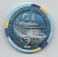 Jeton De Casino Sur Mer : Princess Cruises : Caribbean Princess $ 2.50 - Casino