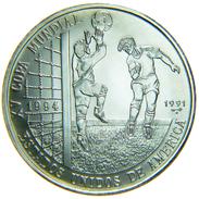 [NC] CUBA - 5 PESOS 1991 FOOTBALL WORLD CUP USA 1994 SILVER 999 12 Gr - Cuba
