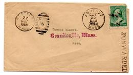 Carta De EEUU  Con Matasellos De Amherst 1888. - 1847-99 Emisiones Generales