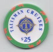 Jeton De Casino Sur Mer : Talisman Cruises $ 25 - Casino
