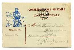 MP213 - CARTE POSTALE EN FRANCHISE 1916 - TRESOR ET POSTES 91 - Marcophilie (Lettres)