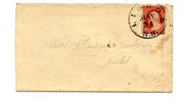 Carta De EEUU  Con Matasellos De Lisbon, New Hampshire. - 1847-99 Emisiones Generales