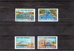 1985 - Le Canal Danube - Mer Noire Mi 4144/4147 Et Yv 3573/3576 MNH - 1948-.... Republiken