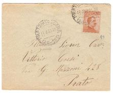 1925 Da Prato (Prato In Toscana) Per Città - Sassone 107 Seconda Scelta - Marcophilia