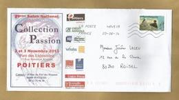 Poitiers (86) 29e Salon 2013 - 03/06/2014 Sur La Plage D'Edouard Manet (Orsay) - Marcophilie (Lettres)