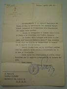 LETTERA DAL SEGRETARIO FEDERALE P.N.F. DI SAVONA 1938 - SEGRETARIO DEL FASCIO DI ONZO - FIRMA BRUNO BIAGGIONI - Historische Dokumente
