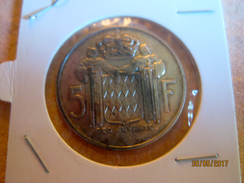Monaco 5 Francs 1966 (argent) - Monaco