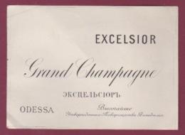 ETIQUETTE VIN - 280517 - GRAND CHAMPAGNE EXCELSIOR ODESSA RUSSIE - Champan