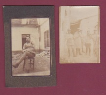 280517 - MILITARIA GUERRE 14 18 - PHOTO Souvenir Du Front PAQUES 1916 Musique Fanfare Flute Violon - Oorlog, Militair