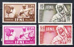 IFNI 1953.EDIFIL Nº 95/98.PRO INFANCIA NUEVO SIN   CHARNELA. SES 024 - Ifni
