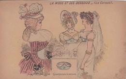 Cartes Postales > Thèmes > Mode La Mode Et Ses Dessous Le Corset Ceinture Directoire 1792 Signature Illisible - Moda