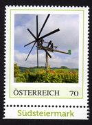 ÖSTERREICH 2012 ** Weinanbau, Weinreben, Windmühle In Der Südsteiermark - PM Personalized Stamp MNH - Wein & Alkohol