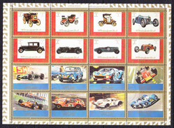 Ajman Racing Cars 16v In Sheetlet Used (F6448) - Ajman