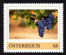 ÖSTERREICH 2015 ** Weinanbau, Weinreben, Weintrauben - PM Personalized Stamp MNH - Wein & Alkohol