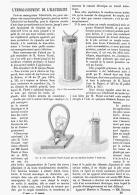 L'EMMAGASINEMENT DE L'ELECTRICITE  1880 - Non Classificati