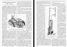 MACHINES DYNAMO-ELECTRIQUES Et Regulateur à Courant Continus De MM. SIEMENS Et HEFNER-ALTENECK   1880 - Non Classés