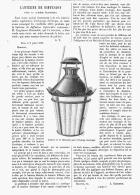 LANTERNE DE DIFFUSION Pour La LUMIERE ELECTRIQUE De M. CLEMANDOT   1880 - Non Classés