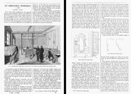 LES COMMUNICATIONS TELEPHONIQUES à PARIS Systéme GOWER  1880 - Téléphonie