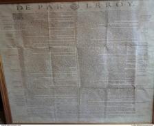 DE PAR LE ROY 1717 .Placard:LES COURRIERS .A Paris Chez La Veuve De François Muguet.600 X 470 Mm.encadré. - Documents Historiques