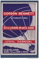 Etats Unis - Vignette Gordon Benett Cleveland 1930 - Neuf * - TB - Erinnophilie