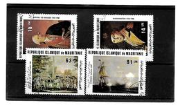 EDY 161 - MAURITANIA  , Quattro Valori Usati E Con Piena Gomma - Mauritania (1960-...)