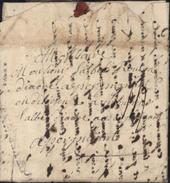 Lettre Etréaupont 1752 Marque De Vervins XVIII Taxe Manuscrite 13 Pour Abbé Diacre Rovira Perpignan I22 Cote 650 Euros - Poststempel (Briefe)