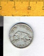 Munt 003 D - Banque Nationale Du Congo 10 C -1967 - Congo (Republic 1960)