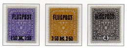 PIA - AUS - 1918 : Francobolli Per Posta Aerea - Francobolli Precedenti Sovrastampati - (Yv P.A. 1-3) - Luftpost