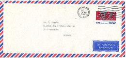 Israel Air Mail Cover Sent To Denmark Haifa 15-10-1975 Single Franked - Airmail