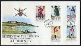 1985 Alderney Regiments First Day Cover / Army Uniforms FDC - Alderney