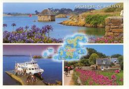 Cp Géo ILE DE BREHAT - Multivues - Ed Jos Le Doaré N° 2201609961 - Cartes Géographiques