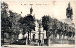 95 ISLE-ADAM - La Mairie Et L'église   (Recto/Verso) - L'Isle Adam