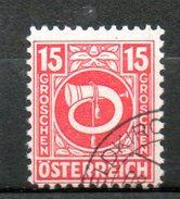 AUTRICHE Série Courante 1945-47 N°525 - 1945-.... 2nd Republic