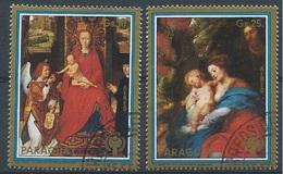 Paraguay      Y / T  Luchtpost   826/ 827      (O)  Schilderkunst    Rubens  -  Memling - Paraguay
