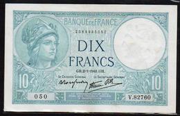 FRANCE: 10 F Minerve N° 7- 26 Date 02/01/1941 - 1871-1952 Anciens Francs Circulés Au XXème
