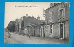 LA VILLEDIEU-du-CLAIN     Rue De La Poste      Animées      écrite En 1921 - La Villedieu Du Clain