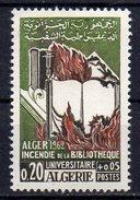 -75% Sur La Cote Algérie 1965 Neuf ** Y&T : 405 3ème Anniversaire De L'incendie De La Bibliothéque D'Alger MNH** - Argelia (1962-...)