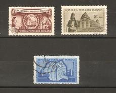 Romania - 1953 Postal Building Construction S/set Used   SG 2302-4  Sc 964-6 - 1948-.... Republics