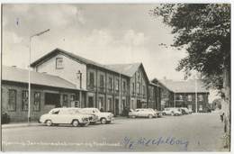 Hjorring - The Railway Station And The Post Office - Denmark