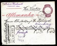 A4676) Brazil Brasilien R-Brief Von Paracatu 21.09.1906 Nach Deutschland - Brasilien