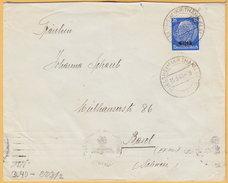 GO Of France Alsace 1941. 25Pf Hindenburg Overprinted Elsas Stamp Only Franking On Censored Cover Niederburbach To Basel - Occupation 1938-45