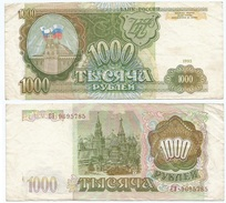 Rusia 1.000 Rublos 1993 Pick 257 Ref 1266 - Rusia