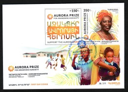 "Armenien / Armenie / Armenia 2017, Laureate Of ""Aurora"" Prize, Marguerite Barankitse, Charity Issue 350+150 - Armenië"