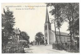 Cpa: 93 AULNAY SOUS BOIS (ar. Le Raincy) Avenue Du Gros Peuplier, Eglise Saint Joseph Du Bois (animée) - Aulnay Sous Bois