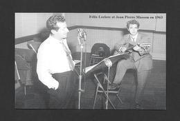 CHANTEURS ET ARTISTES VEDETTES - FÉLIX LECLERC ET JEAN PIERRE MASSON EN 1963 - Chanteurs & Musiciens