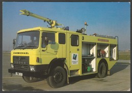 Carmichael Airfield Crash Tender - Fire Services National Benevolent Fund Postcard - Trucks, Vans &  Lorries