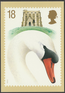 Swans, 18p, Mute Swan, Cob, 1993 - Royal Mail Stamp Card PHQ 149a - Stamps (pictures)