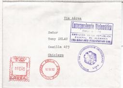 PERU CC CORREO OFICIAL EMBAJADA DE ALEMANIA LIMA FRANQUICIA POSTAL - [7] République Fédérale