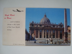BLOTTING PAPER - TWA.HIGH ROAD TO ROME AND ITS HISTORIC SHRINES IS THE ROUTE OF THE TRANS WORLD AIRLINE - USA 50s UNUSED - Advertenties